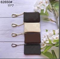 سستة محافظ قصيرة مفتاح الحقيبة عملة محفظة الجلود تحمل جودة عالية الأزياء الكلاسيكية المرأة حامل مفتاح صغير جلد مفتاح محافظ تامي
