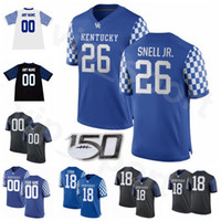 NCAA Football College Lynn Bowden JR Jersey Kentucky Wildcats Sawyer Smith Benny Snell Stephen Johnson Stanley Williams Patrick Towles Home