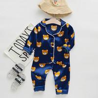 Baby Pajamas Ensembles 2021 Nouveautés Enfants d'automne Pyjamas de dessin animé pour Girls Garçons Sortwear Coton à manches longues Vêtements de nuit Enfants Vêtements 12 Styles