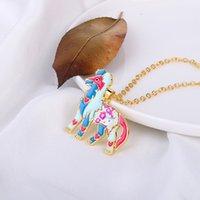 Bunte Schmetterlings-Halskette Emaille-Tropfen-Öl-Anhänger Halsketten Schmuck Geschenk langkettige Halskette