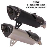 Slip de système d'échappement de moto pour C400X 2021-2021 C400GT 2021-20 Conseils de silencieux moteur Tips de liaison à la queue moyenne avec DB Killer1