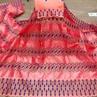 7yards tissu en dentelle nigerian 2020 dentelle tissu de haute qualité du coton africain tissu bazin riche brocart dernière Guinée dentelle de broderie