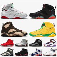 أعلى جودة النساء أحذية رجالي JUMPMAN 7 7S كرة السلة ريترو هير بارسيلون ليالي باتا ولاية أوريغون البط الأحذية GMP راي الن المدربين أحذية رياضية