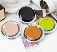 Maquillage Cosmétologie Miroir Cristal Fold Cadeau Portable Madame Lettrage Cosmétique Cosmétique Miroirs à la main Circulaire Tunosisée 2 55WC M2
