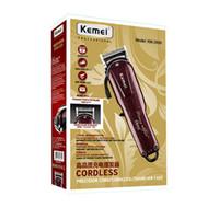 Kemei 2600 Profesyonel Elektrikli Saç Düzeltici Sakal Tıraş Makinesi 100-240 V Şarj Edilebilir Saç Kesme Titanyum Bıçak Saç Kesme Makinesi KM-2600
