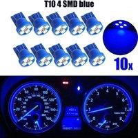 10 / 20pcs 세트 자동차 LED 조명 T10 4SMD 1210 LED 웨지 대시 보드 게이지 클러스터 전구 블루 액세서리 자동차 용품 1