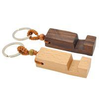 2021 Soporte de telefono de madera Soporte Llavero Coche Llavero Accesorios Bolsa Colgante Moda Fashion Gifts