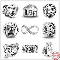 2020 Newst Love You Mama Infinity Heart Für immer Familienperlen Fit Pandora Charms Silber 925 Original Armbänder Halskette Schmuck