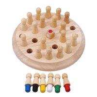 Laimala Çocuklar Ahşap Bellek Maç Sopa Satranç Oyunu Çocuk Erken Eğitim Oyuncak 3D Aile Partisi Rahat Oyun Bulmacalar Hafıza Oyunu Y200704