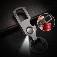2020 New Fashion Keychain LED Lights Lamp Beer Opener Bottle Cool Key Chain Multi-function Key Ring For Men Women Gift ring