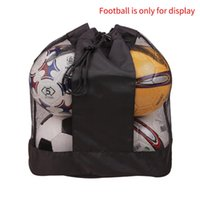Basketball Sack Ball Sac à bille Mesh Sangle Réglable Tissu Oxford Easy Portez indéfinible Soccer Grande capacité Single Épaule