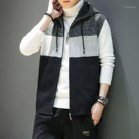 2020 Otoño Nuevo Punto Punto más Velvet Chaleco Sweater Sweater Sweater Chaleco Casual Hombres Ropa1