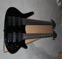 Wholesale Price Custom double neck 5 and 6 string super bass Electric Guitar