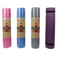 TPE Yogamatte mit Positionslinie Rutschfeste Teppichmatte für Anfänger Umweltfitness Gymnastik Matten, Yoga und Pilates Gymnastics Matte