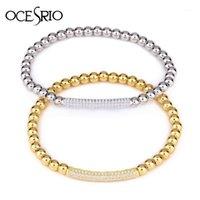 Ocesrio Neue Pave CZ Silber Farbe Herren Armbänder Luxus Verstellbare Kupfer Gold Perlen Charme Armbänder für Frauen Schmuck BRT-A371
