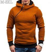 Size XXXL Hoodie Men New Diagonal Zipper Long Sleeve Hoodies Sweatshirts Men Casual Solid Hoody Pullover Streetwear Sweatshirt1