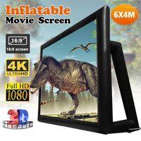 6x4 متر 4.4x2.5m 16: 9 200 بوصة نفخ فيلم التلفزيون المسرح عرض الشاشة في الهواء الطلق عرض شاشات 1