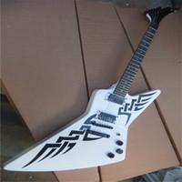 Guitarra eléctrica alienígena de 6 cuerdas de fábrica al por mayor de fábrica, guitarra de diapasón de palisandro blanco, instrumento musical de moda popular, Shippin gratuito