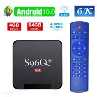 Billigste S96Q Plus TV-Box Android 10.0 Allwinner H616 4GB 32GB 64GB 6K Wifi Media Player