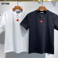 DSQ PHANTOM TURTLE 2021SS New Mens Designer T shirt Paris fashion Tshirts Summer DSQ Pattern T-shirt Male Top Quality 100% Cotton Top 1041