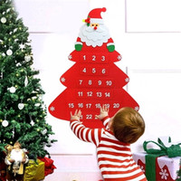 Felt Christmas Advent Calendar with Pocket Hanging Ornaments...