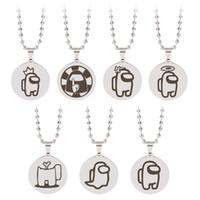 7 estilos entre nosotros juego colgante collar de acero inoxidable accesorio collar de cadena niños cumpleaños joyería regalo
