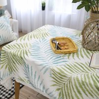 Green Leaves American Design Polyester Lace Table Cloth Squa...