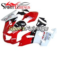Sportbike carénages pour Suzuki K1 GSXR 600 2000 2002 2003 2003 GSXR 750 00 01 02 03 Kit de carénage d'injection ABS rouge blanc