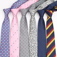 رجل الأعمال التعادل الرسمي مخطط الجاكار الزفاف ربطة العنق الضيقة الكلاسيكية كورباتا الرقبة الرسمية gravata no