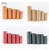 Regalo Wrap Round Cartone Scatola di cartone Cosmetico Essenziale Bottiglia di olio Imballaggio Rossetto Profumo Imballaggio Kraft Paper Tube Boxes 10/20 / 30ml