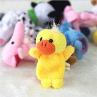10 adet / grup Bebek Dolması Peluş Oyuncak Parmak Kuklaları Hikaye Hayvan Bebek El Kukla Çocuk Oyuncakları Çocuk Hediye 10 Hayvan Grubu 155 G2