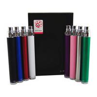 Visão Spinner Vape eGo Torção Da Bateria 3.3-4.8 VVariabilidade Tensão 650 mah 900 mah 1100 mah 1300 mah Vaporizador e cigarro 510 VV ecig Caneta Vapes