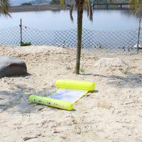 Moda Yüzer Yatak Şişme Örgü Şamandıra Sal Katlama Su Hamak Lounge Yüzme Havuzu Plaj Oyun Araçları Popüler 12GD D2