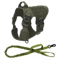 Tactical Service Dog Vest Breathable Dog Clothes K9 Harness ...