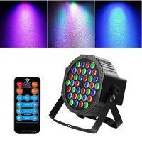 Brand New 36w 36-LED RGB Remote / Automático / Controle de Som Dmx512 Alta Brilho Iluminação Iluminação Mini DJ Bar Festa de Alta Qualidade Palco Lâmpada