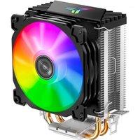 JONBO CR1200 2 Torre de tubería de calor CPU Cooler RGB 3PIN FANSEA DE ENFRIAMIENTO DE ALIMENTADOR 9 CM Color Soft Light Fan PU Cooler Streamer Effect1