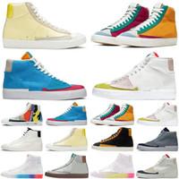 Venda quente Blazer Meados de 77 homens mulheres correndo sapatos Multi Kumquat Dorothy Gaters Hack Pack Tenha um bom jogo Mens Trainer Sports Sneakers