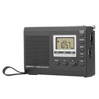 Hanrongda Taşınabilir FM Radyo FM / AM / SW Dijital Çalar Saat Zaman Ekran Müzik Çalar Hoparlör Kulaklık Ile HRD-310