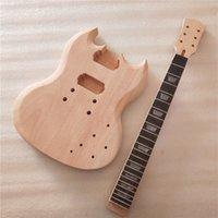 New FAI DA TE 1 Set Guitar Mogany Body and Neck Kit per chitarra elettrica non finita