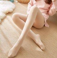الجوارب الجوارب أزياء المرأة الصلبة الكشمير جوارب الشتاء الدافئة الصوف الجوارب جوارب طويلة سلس 1