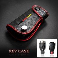 Cuir de vache clé de voiture Shell Case Cover pour Mercedes Benz W204 W203 W205 W211 C S E Classe GLK GLA Trousseau Accessoires