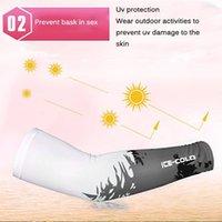 Correndo Braço Sleeve Respirável Sunshade Anti-Slip Ice Silk Protetora Bicicleta Ciclismo Mão de Verão Solares Sportswear Acessórios1
