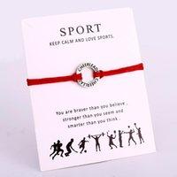 Encanto pulseras animadora alegre mamá gimnasia gimnasia cadena joyería mujeres niña niño unisex amigos regalo gota