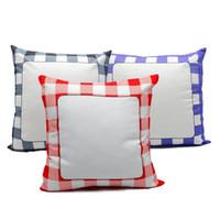 40 * 40 Sublimation Pillowcase Grid Blank White Kissenbezug Heat Transfer Kissenüberzüge Platz Wurf Sofa-Abdeckung 60pcs DDA775
