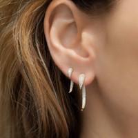 أعلى جودة المرأة فاسق مجوهرات برشام سبايك تصميم الجبهة عودة مزدوجة الجانب مايكرو تمهيد تشيكوسلوفاكيا القرن مربط القرط Y1220