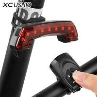 XC Ushio USB аккумуляторный велосипед беспроводной смарт-пульт дистанционного управления поворот сигнал сигнал хвост света рожка велосипед светодиодный лампы велосипедные аксессуары Y200920