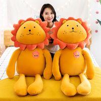 Новый творческий плюшевые игрушки Cute Lion с ноги куклы Прекрасные свиньи куклы Мягкие мультфильм Simulation животных Фаршированные Подушка для детей имениннице подарок