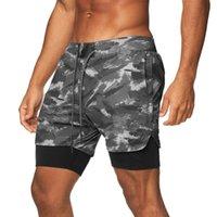 Crazy Muscle Sports Sports Shorts Compression Faux deux pièces Séchage rapide Fitness Fitness Pantalon de jogging Vente chaude