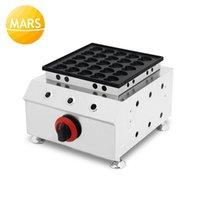 Paslanmaz Çelik 25 Delik Gaz Poffertjes Makinesi Yapışmaz Waffle Demir Pan Poffertjes Izgara Kalp Şeklinde Waffle Baker Ekipmanları1