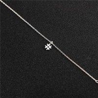 Кулон ожерелья 5 хэштег письма начальный знак цепи ожерелье модный алфавит символ # для женщин Ladie Lucky подарок украшения